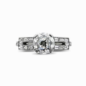 Old Cut Baguette Engagement Ring 1.10ct HVS